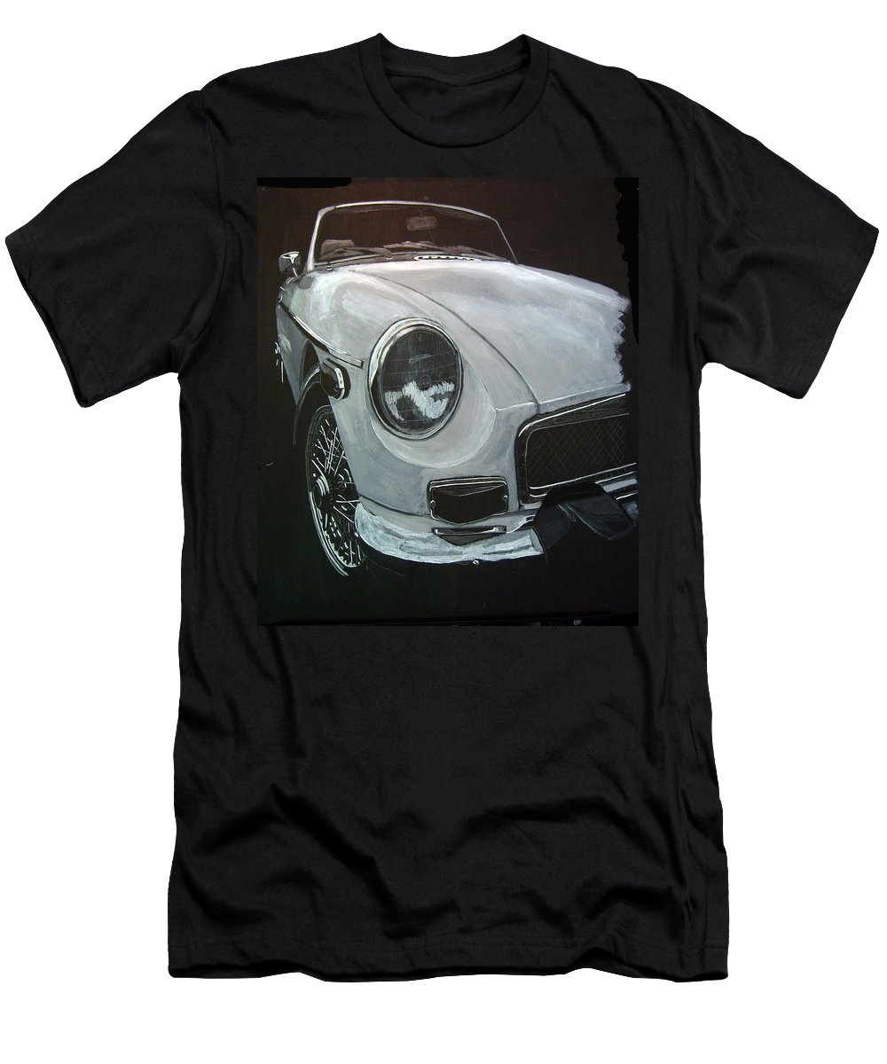 Mgb T-Shirt featuring the painting MGB by Richard Le Page
