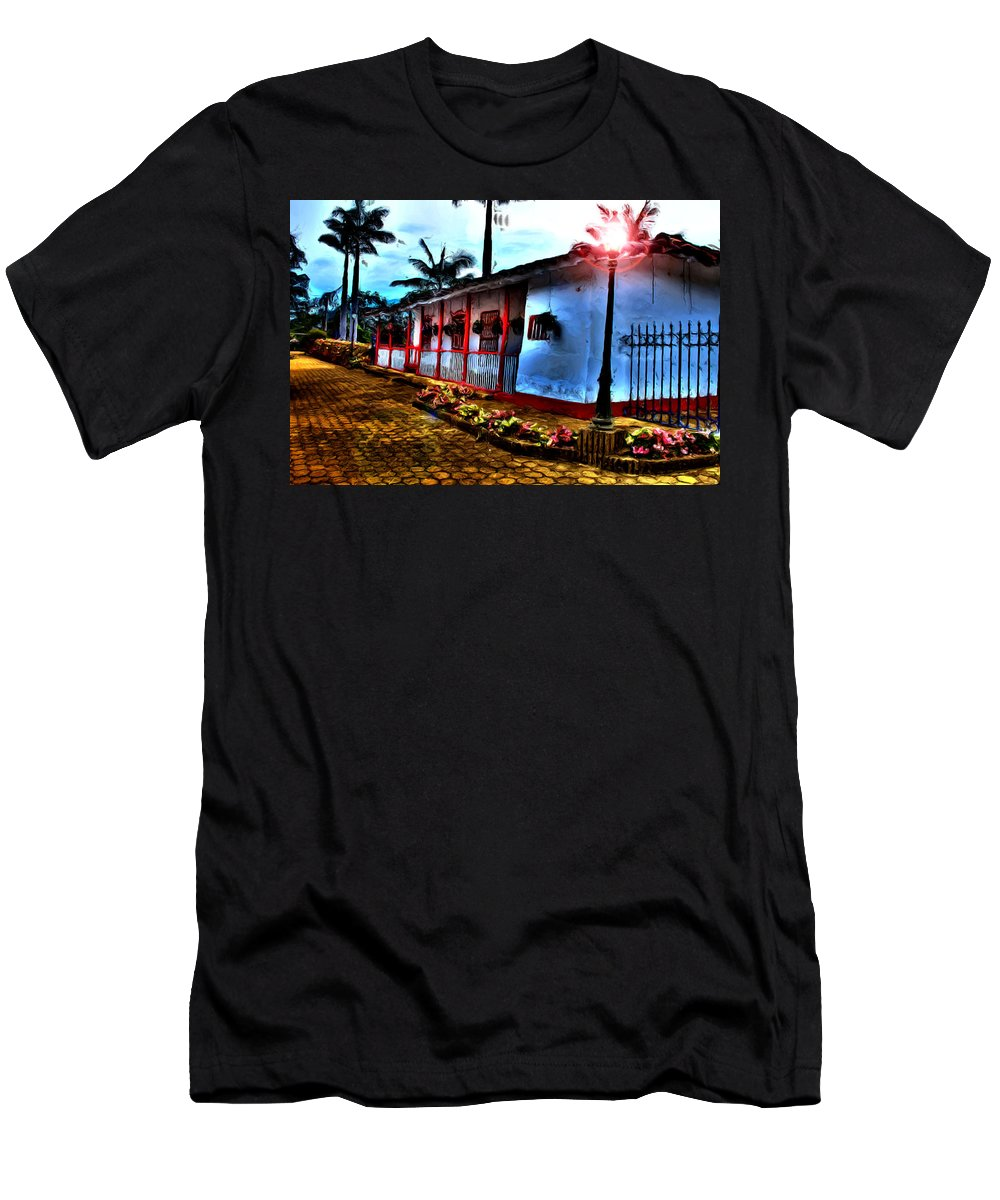 Medellin Men's T-Shirt (Athletic Fit) featuring the photograph Mi Casa by Francisco Colon