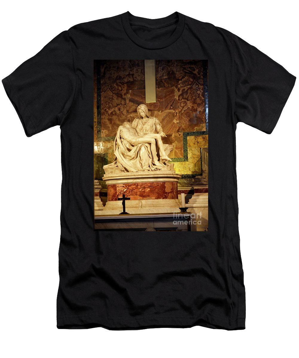 Michelangelo Masterpiece Of A Mother's Love Men's T-Shirt (Athletic Fit) featuring the photograph Michelangelo Masterpiece Of A Mother's Love by Brenda Kean