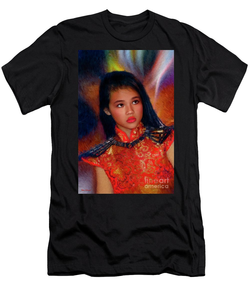 Michelle Ahl Men's T-Shirt (Athletic Fit) featuring the photograph Michelle Ahl by Blake Richards