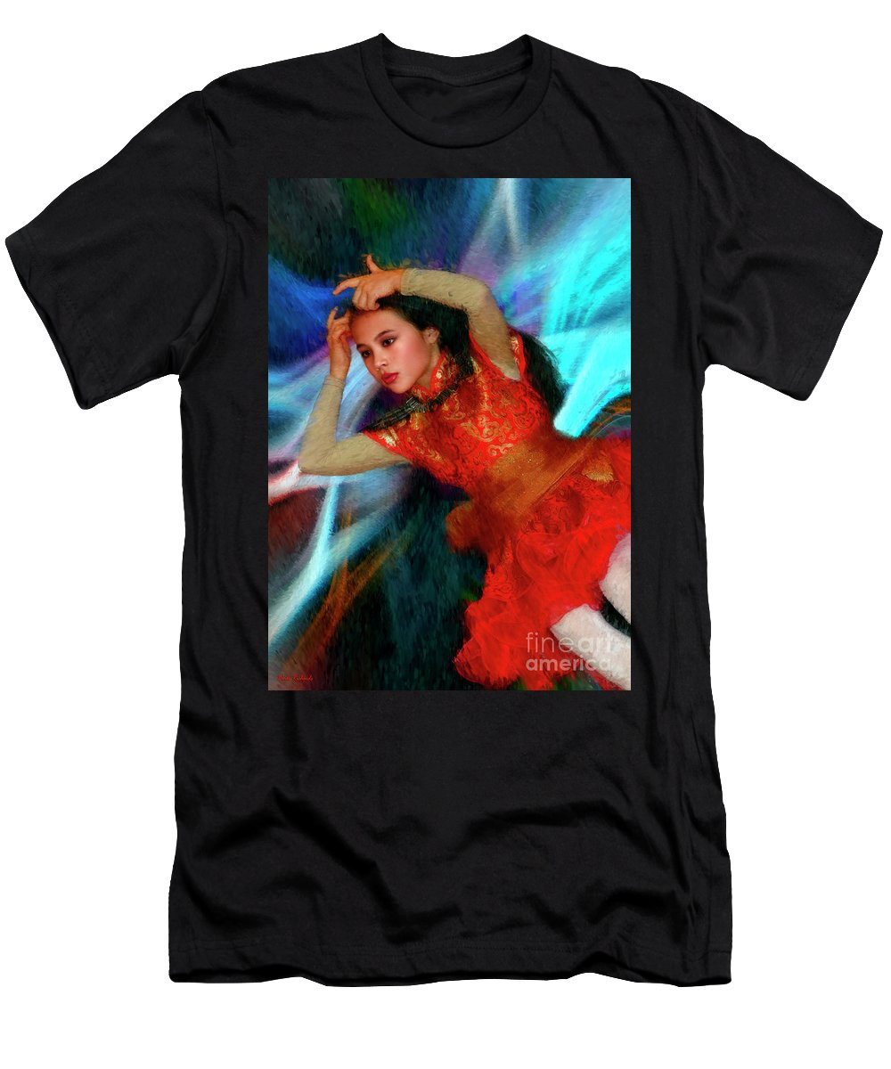 Men's T-Shirt (Athletic Fit) featuring the photograph Michelle Ahl Pensive Moment by Blake Richards