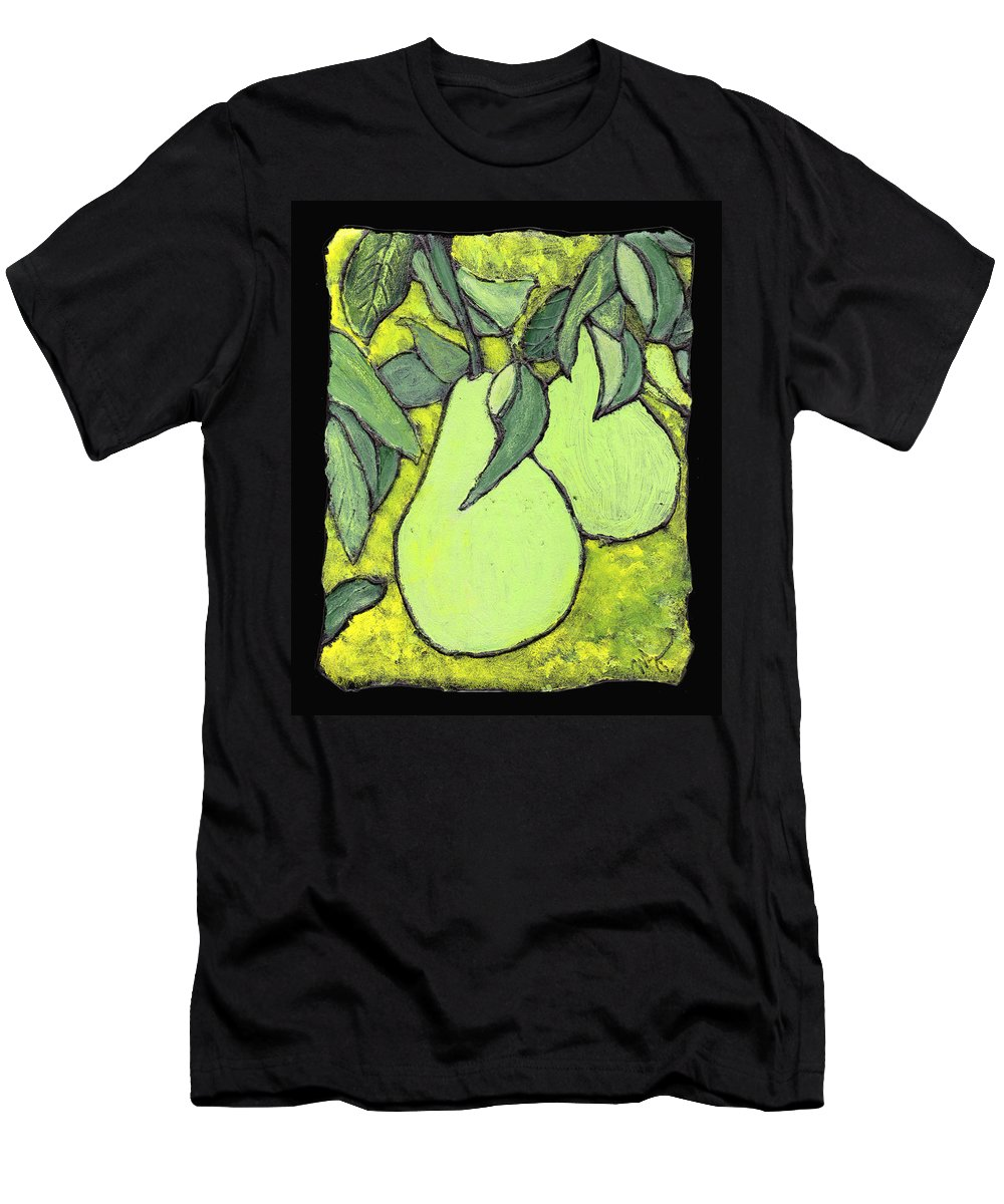 Pears Men's T-Shirt (Athletic Fit) featuring the painting Michigan Pears by Wayne Potrafka