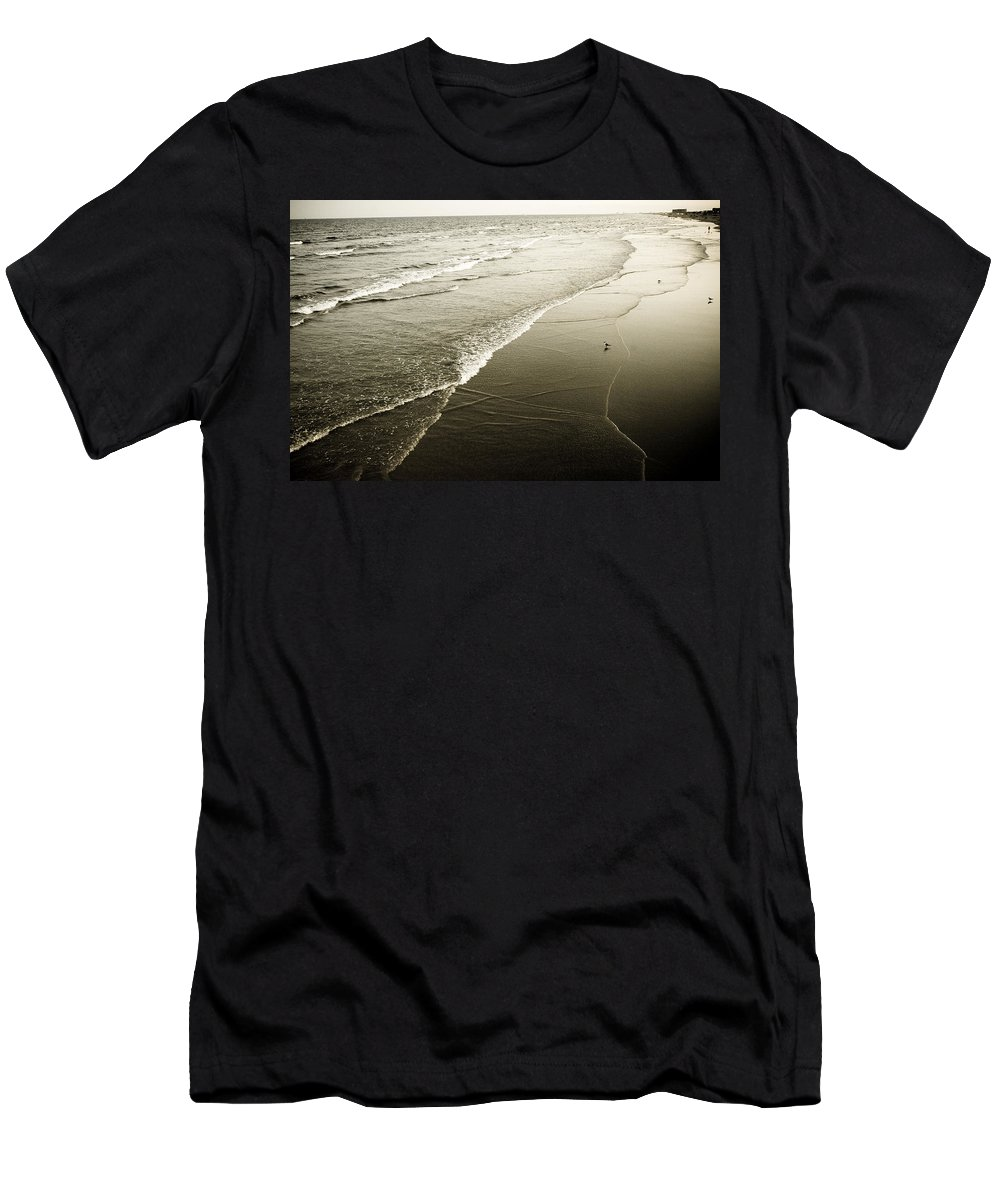 Ocean Men's T-Shirt (Athletic Fit) featuring the photograph Mid-summer Morning by Marilyn Hunt