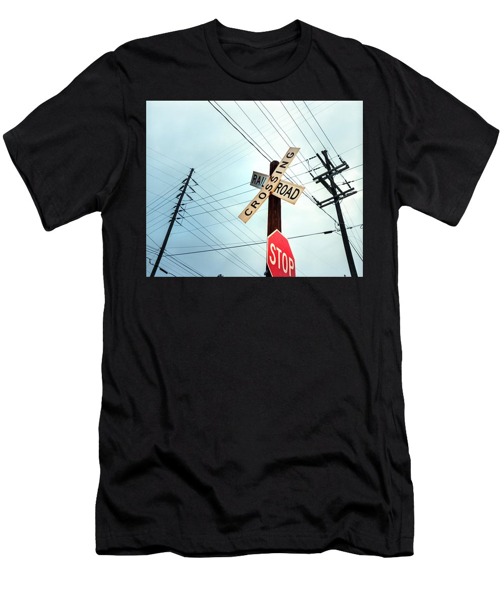 Business Finance And Industry Men's T-Shirt (Athletic Fit) featuring the photograph Mid West Crossroad, Usa by Ruurd Dankloff