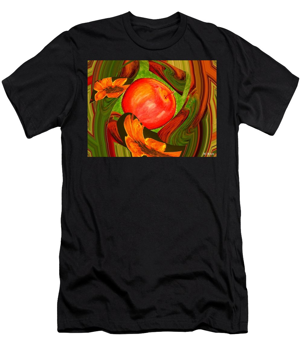 Apple Men's T-Shirt (Athletic Fit) featuring the digital art Middle Of The Garden by Melvin Moon