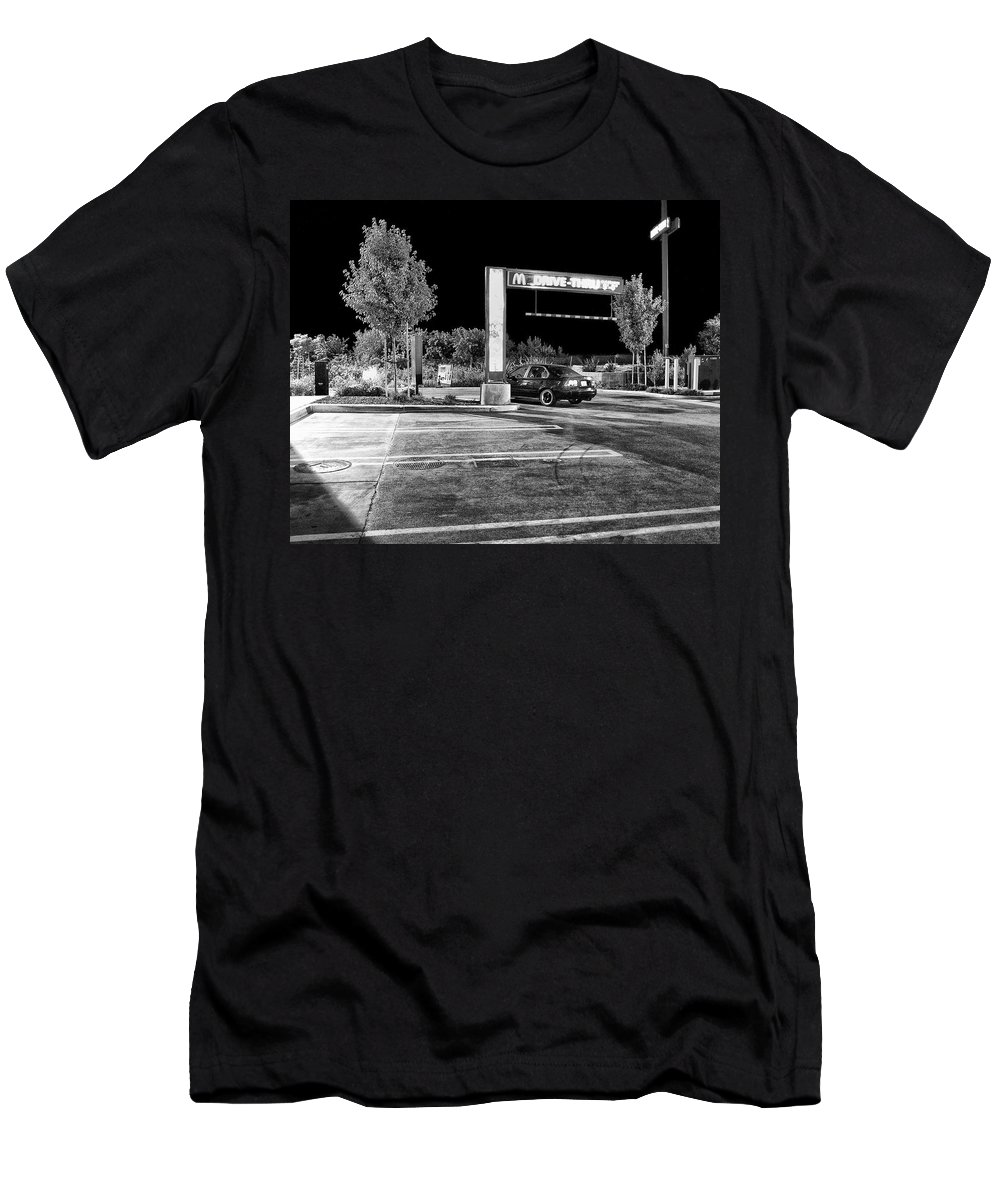 Mcdonalds Men's T-Shirt (Athletic Fit) featuring the photograph Midnight At Mickey D's by Dominic Piperata