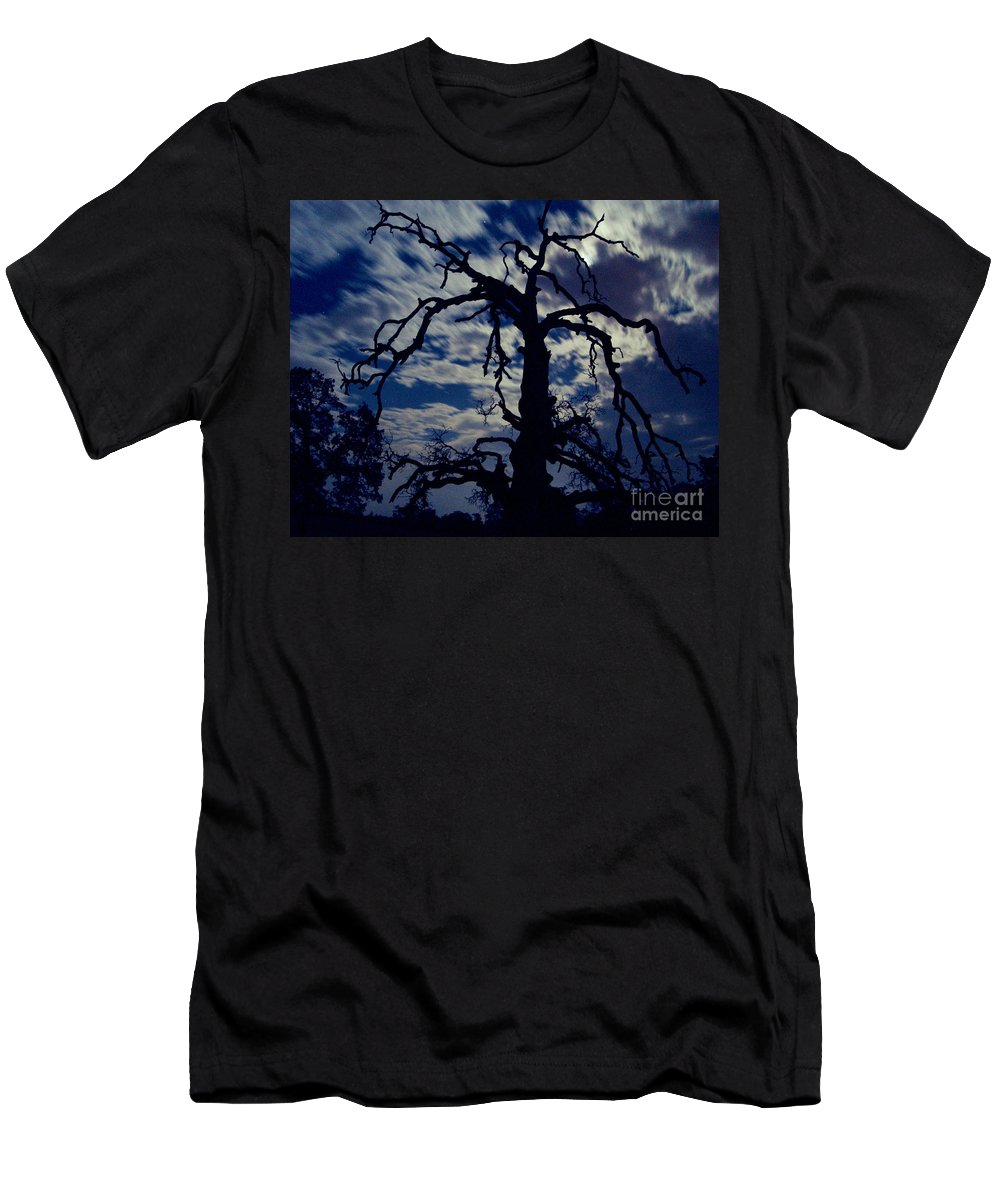 Clouds Men's T-Shirt (Athletic Fit) featuring the photograph Midnight Blue by Peter Piatt