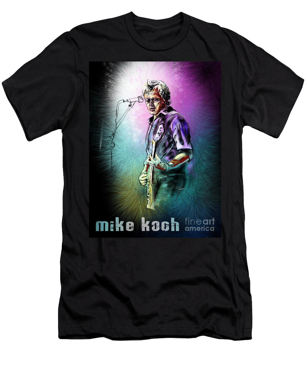 Mike Koch Portrait Men's T-Shirt (Athletic Fit) featuring the digital art Mike Koch by Miki De Goodaboom