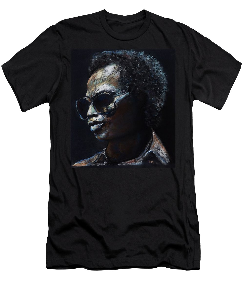 Miles Davis Men's T-Shirt (Athletic Fit) featuring the painting Miles Davis by Frances Marino