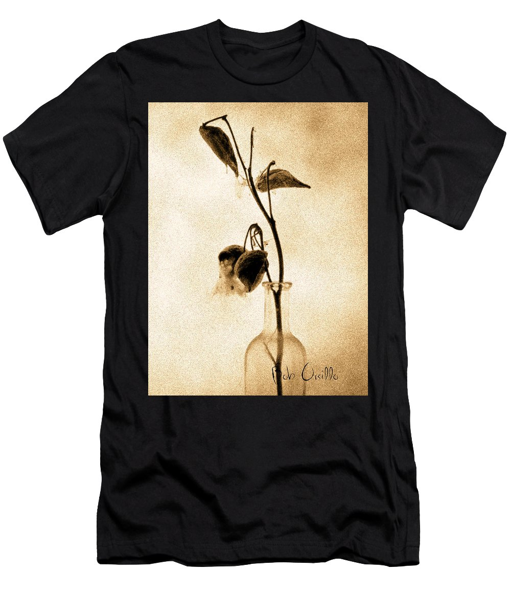 Plant Men's T-Shirt (Athletic Fit) featuring the photograph Milk Weed In A Bottle by Bob Orsillo