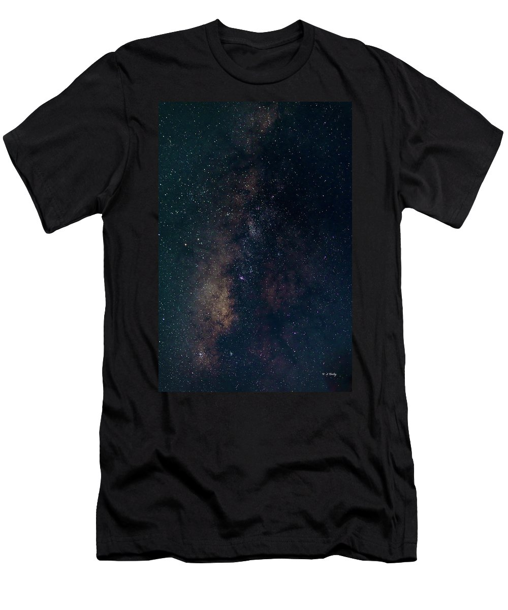 Astrophotography Men's T-Shirt (Athletic Fit) featuring the photograph Milky Way by Robert Bresley