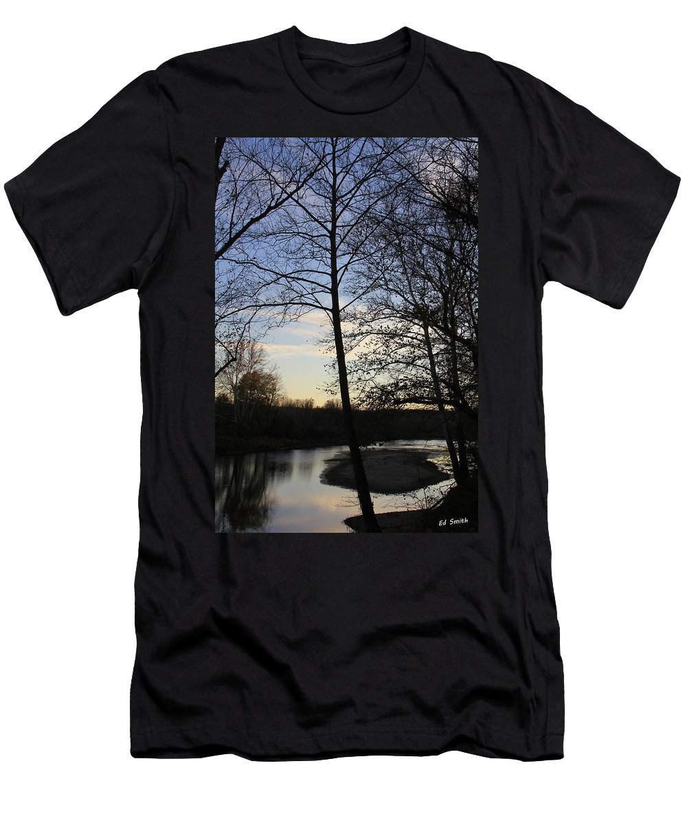Mill Creek Memories Men's T-Shirt (Athletic Fit) featuring the photograph Mill Creek Memories by Ed Smith