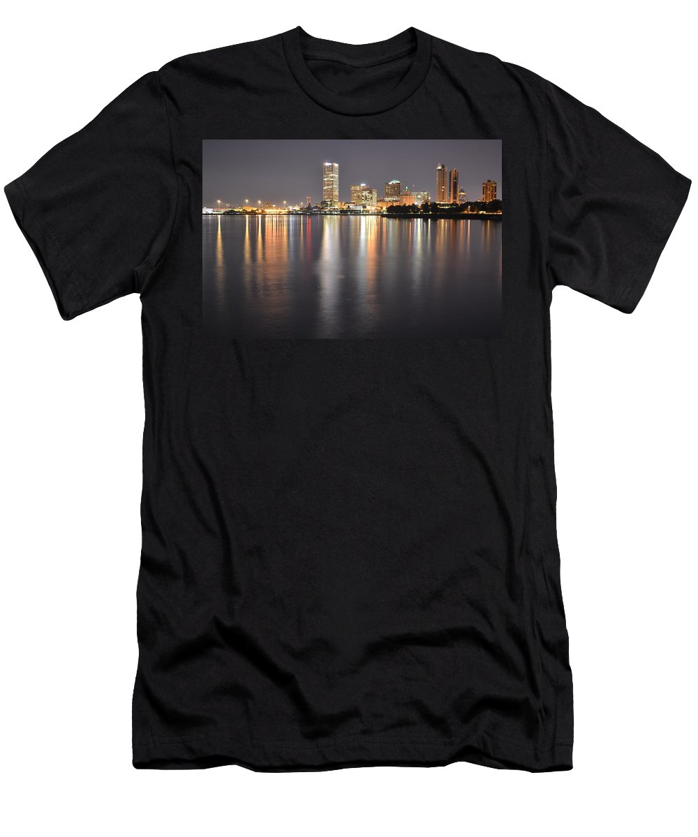 Men's T-Shirt (Athletic Fit) featuring the photograph Milwaukee Skyline 2012 by Crystal Davidson