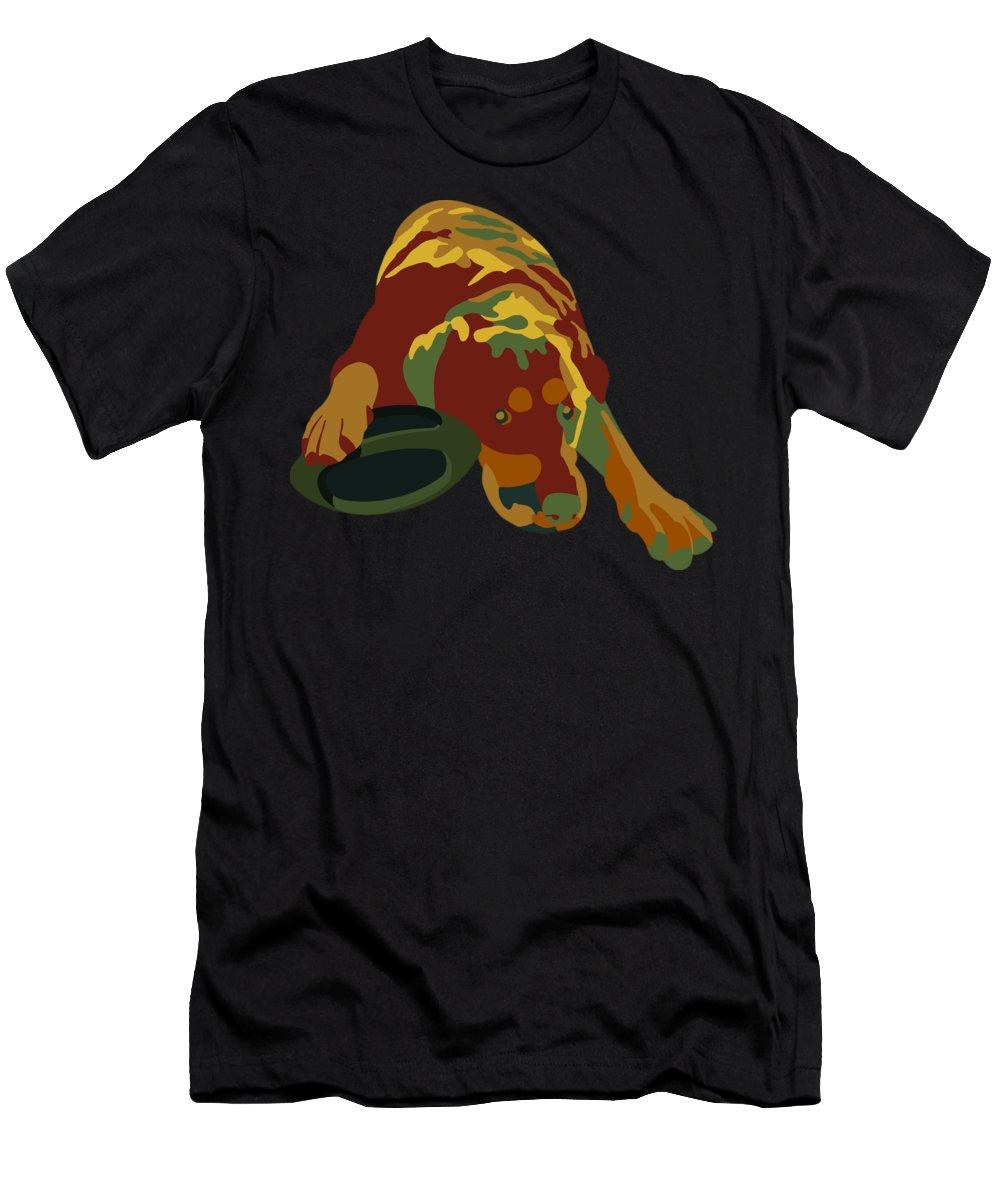 Dog Men's T-Shirt (Athletic Fit) featuring the digital art Mine by John Berndt
