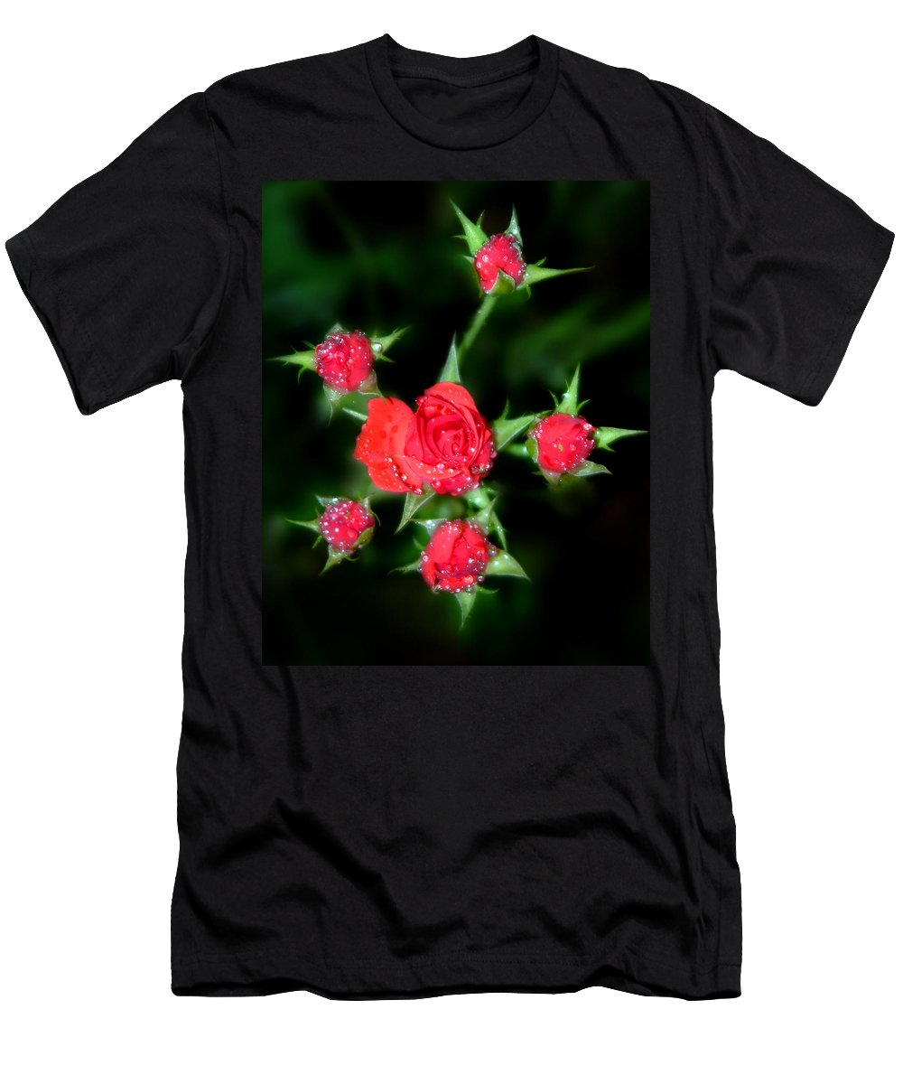 Roses Men's T-Shirt (Athletic Fit) featuring the photograph Mini Roses by Anthony Jones