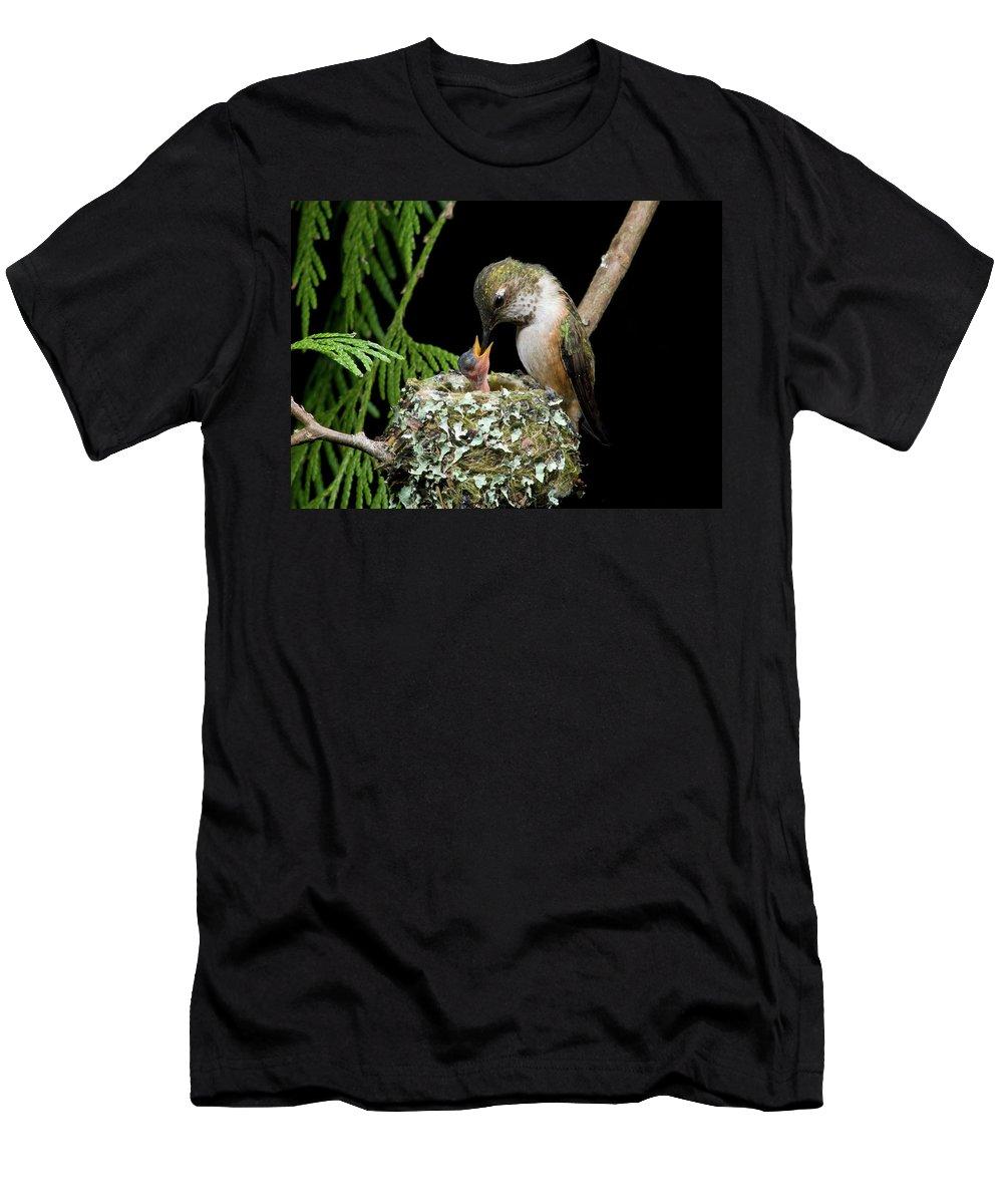 Portrait Men's T-Shirt (Athletic Fit) featuring the photograph Miniature Sword Swallower by Damon Calderwood