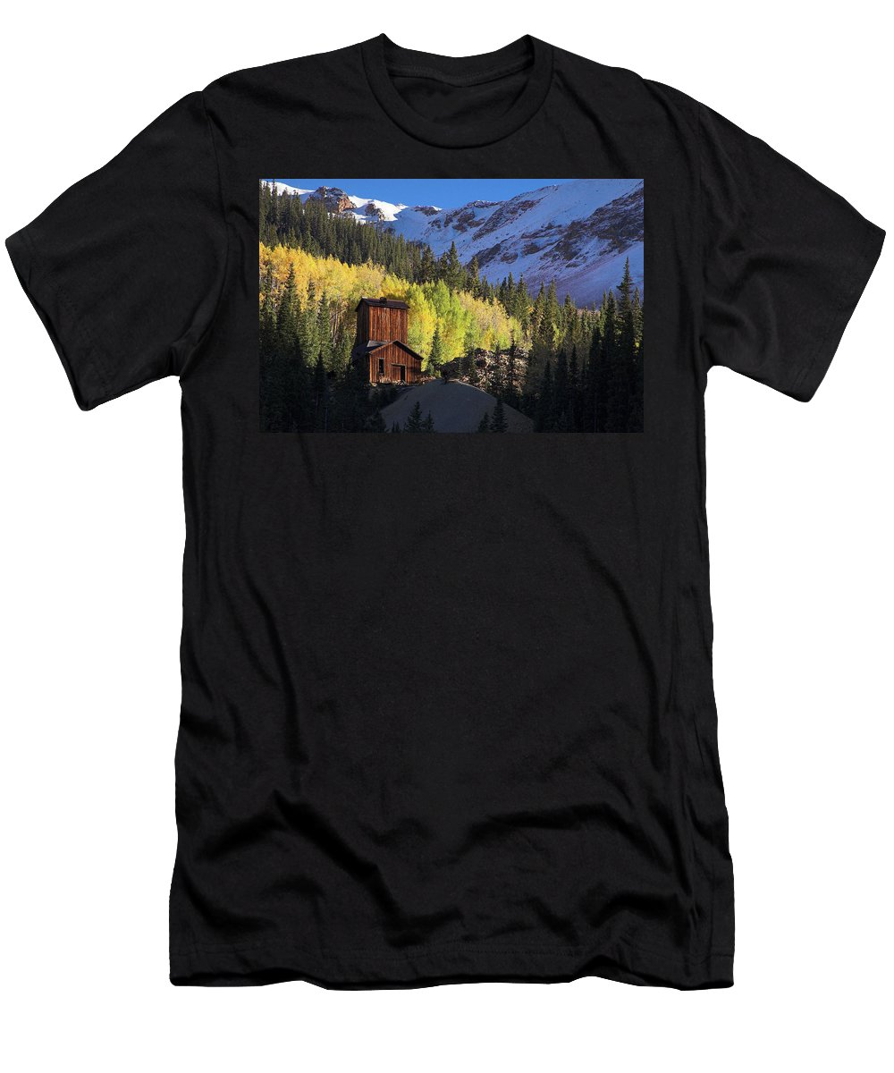 Colorado Men's T-Shirt (Athletic Fit) featuring the photograph Mining Ruins by Steve Stuller