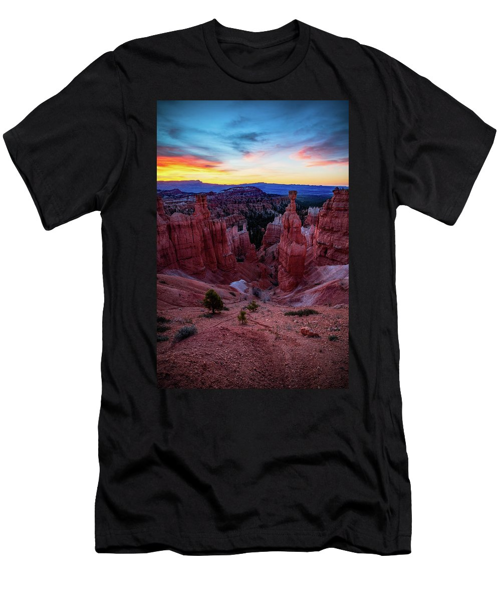 Amaizing Men's T-Shirt (Athletic Fit) featuring the photograph Thor's Light by Edgars Erglis