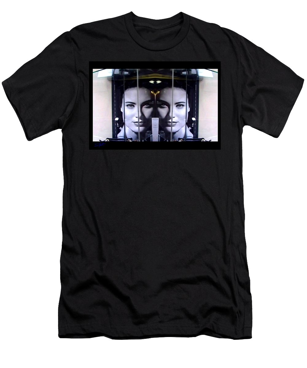 Dream Men's T-Shirt (Athletic Fit) featuring the photograph Mirror Image by Charles Stuart