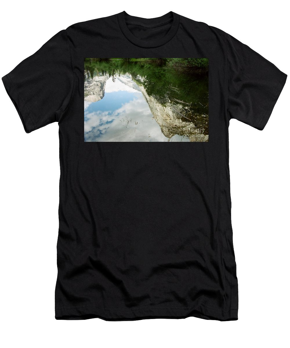 Mirror Lake Men's T-Shirt (Athletic Fit) featuring the photograph Mirrored by Kathy McClure
