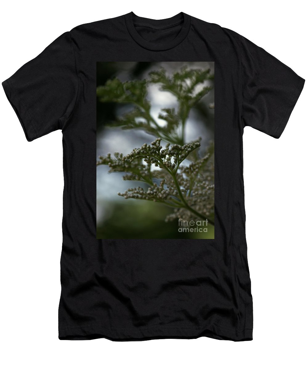 Abstract Men's T-Shirt (Athletic Fit) featuring the photograph Mirrored by Linda Shafer