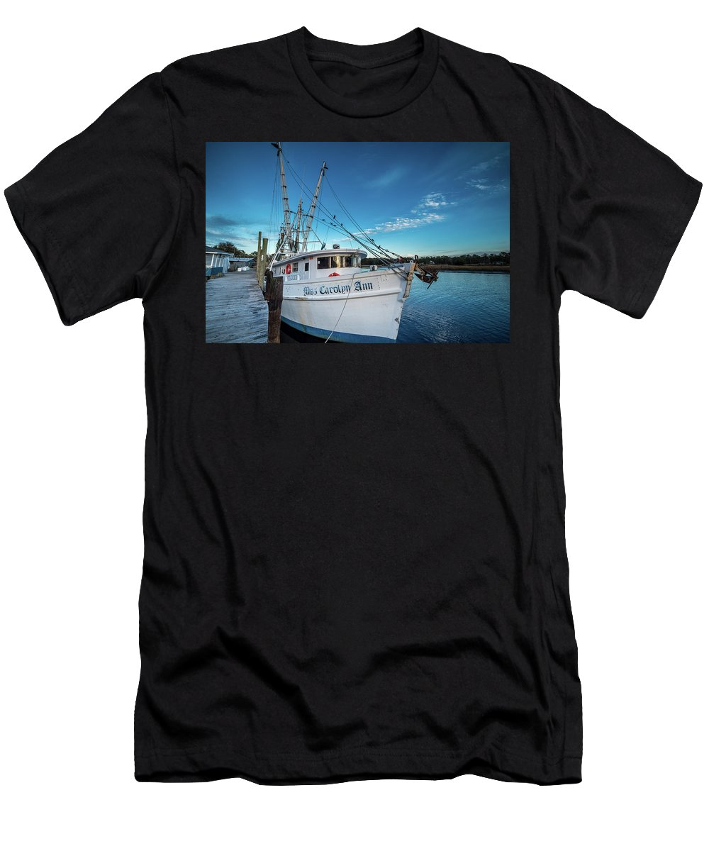 Shrimper Men's T-Shirt (Athletic Fit) featuring the photograph Miss Carolyn Ann by Gerald Monaco