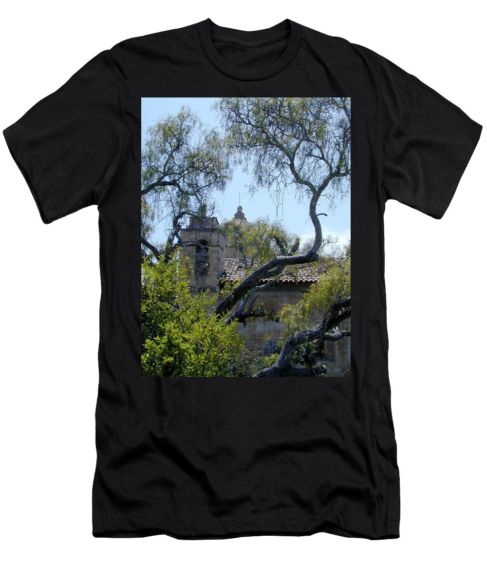 Mission Men's T-Shirt (Athletic Fit) featuring the photograph Mission At Carmell by Douglas Barnett
