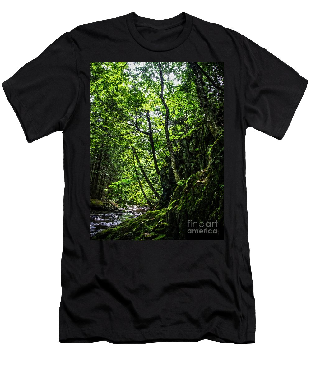 Vermont Men's T-Shirt (Athletic Fit) featuring the photograph Missisquoi River In Vermont - 1 by James Aiken