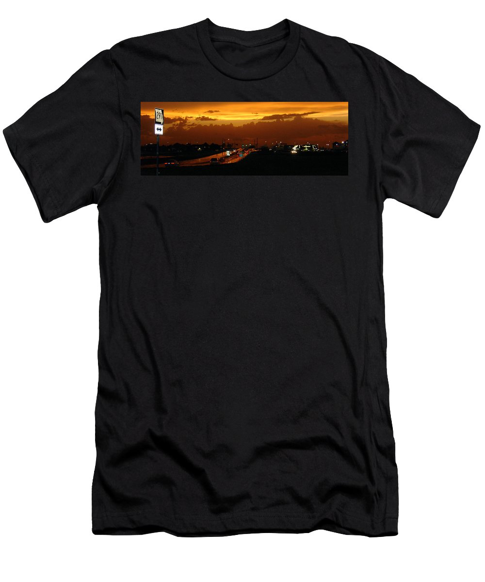 Landscape Men's T-Shirt (Athletic Fit) featuring the photograph Missouri 291 by Steve Karol