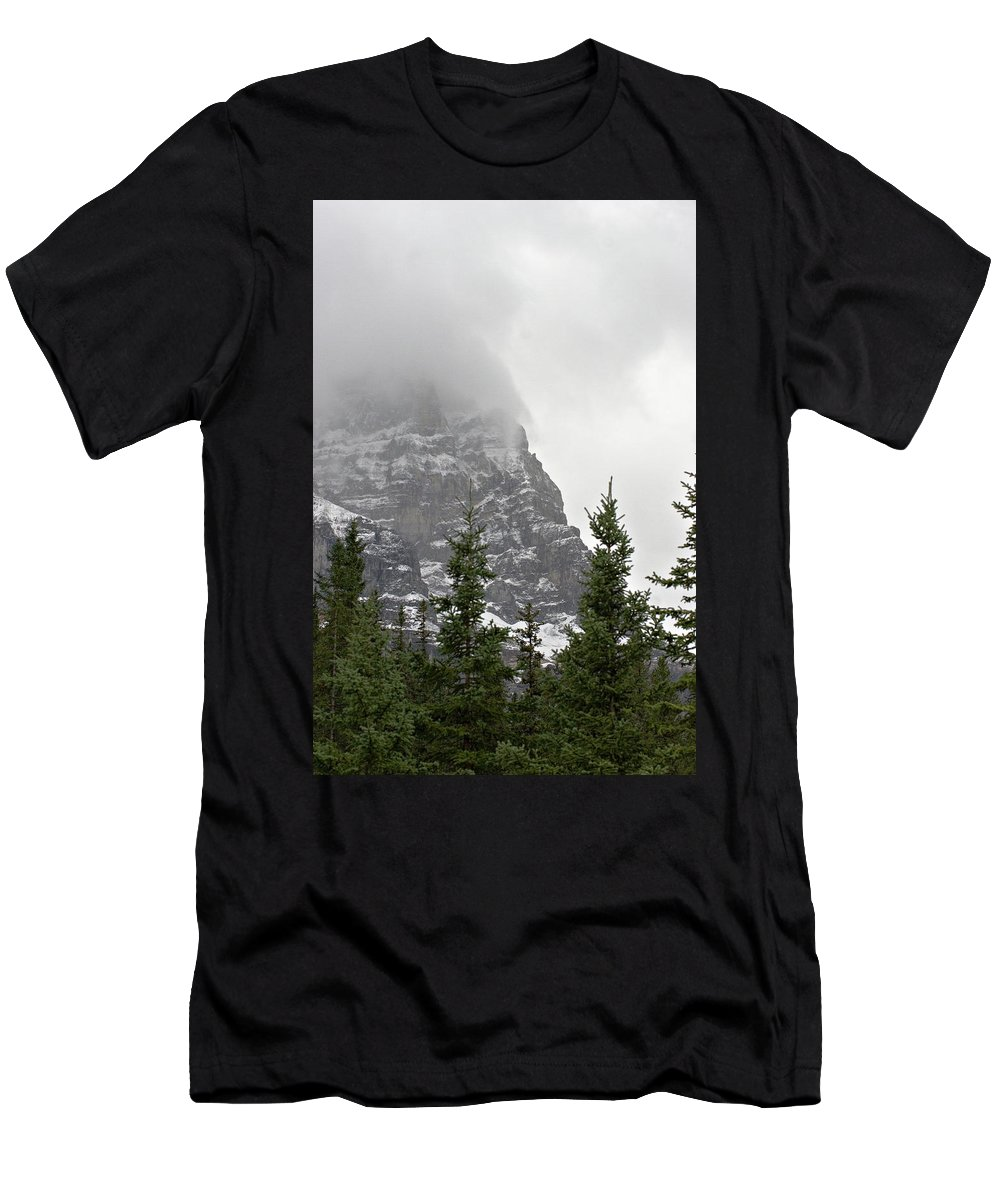 Nature Men's T-Shirt (Athletic Fit) featuring the photograph Misty Mountains by Deanna Paull