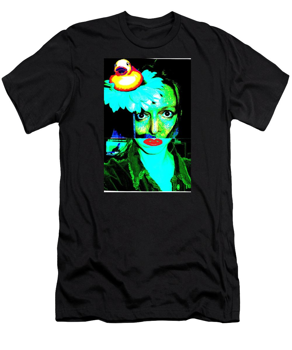 Art Men's T-Shirt (Athletic Fit) featuring the photograph Mixed Up Girl by Betsy Mullenix