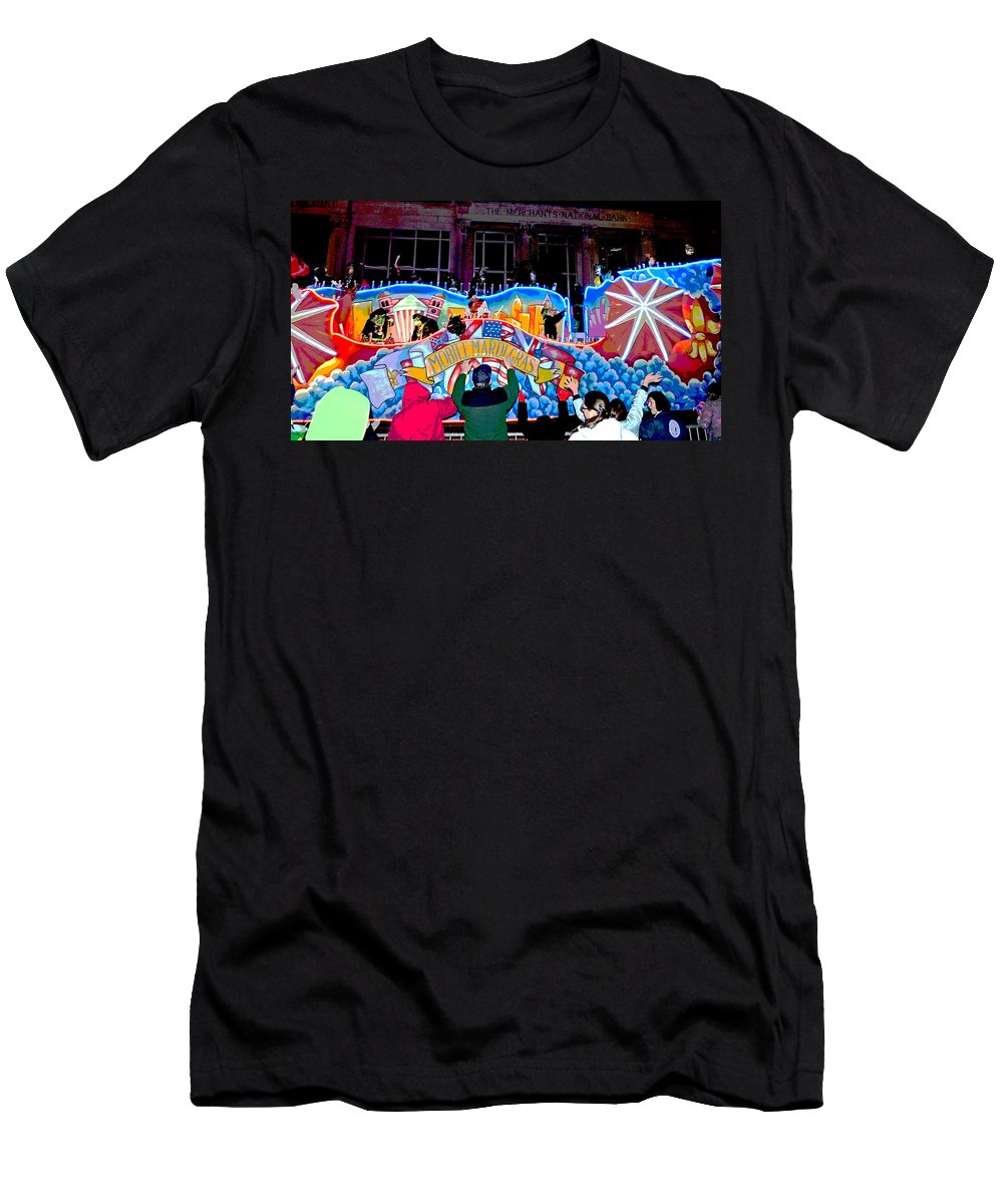 Mardi Gras Men's T-Shirt (Athletic Fit) featuring the photograph Mobile Mardi Gras by Marian Bell