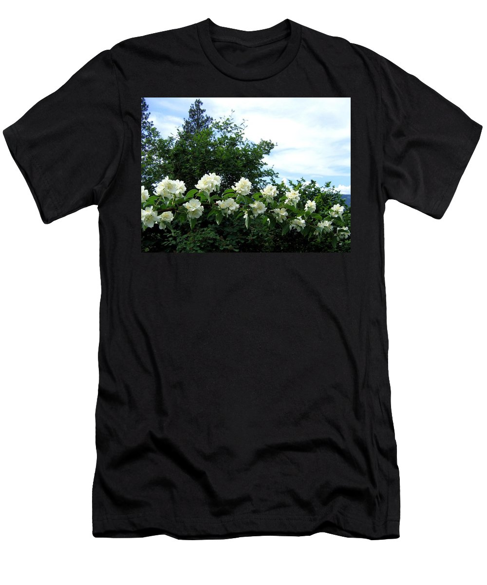 Mock Orange Men's T-Shirt (Athletic Fit) featuring the photograph Mock Orange Blossoms by Will Borden