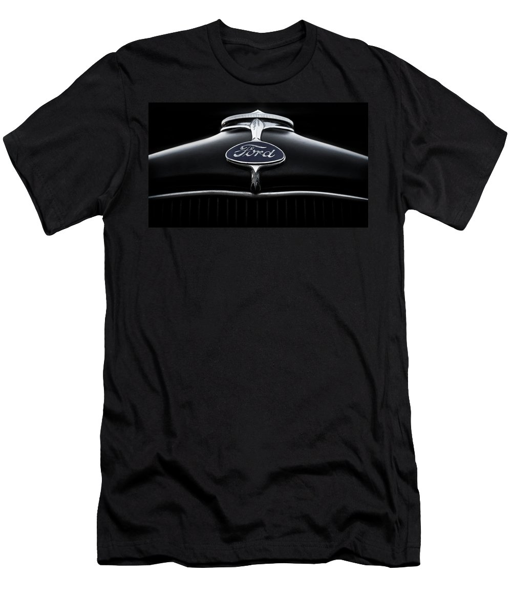 Hood Ornament Men's T-Shirt (Athletic Fit) featuring the digital art Model A Ford by Douglas Pittman