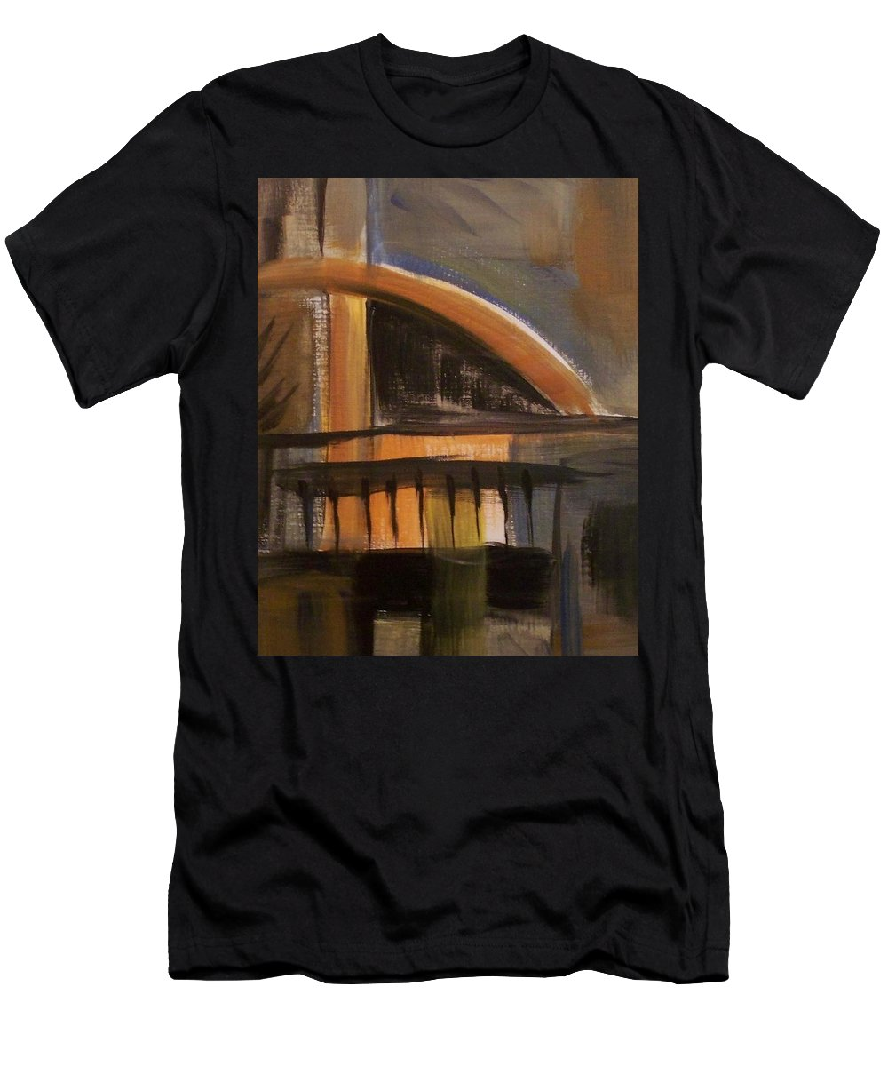 Abstract Men's T-Shirt (Athletic Fit) featuring the painting Modern Architecure 2 by Anita Burgermeister