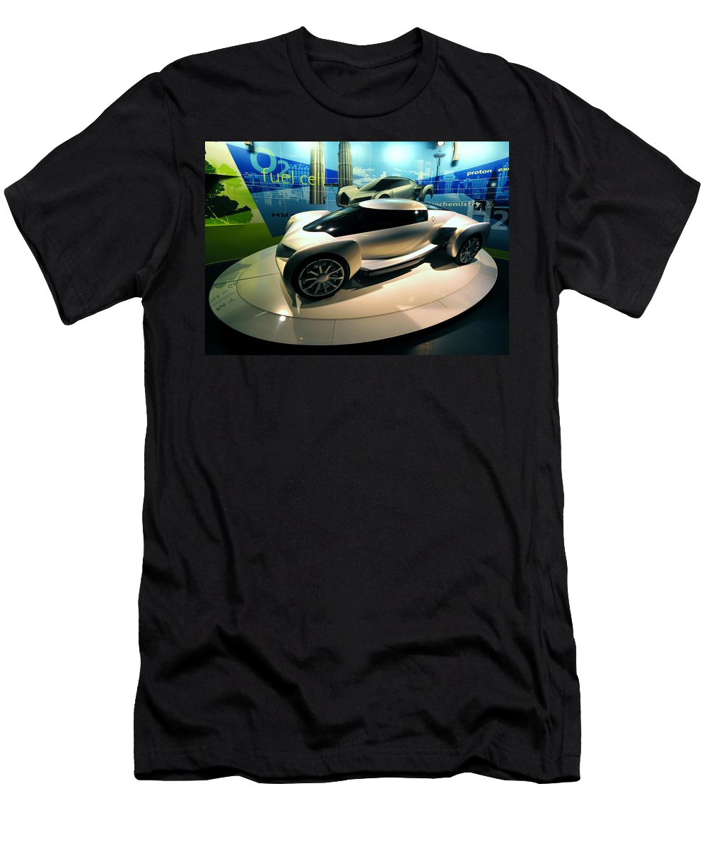 Modern Car Men's T-Shirt (Athletic Fit) featuring the photograph Modern Fuel Cell Car by David Lee Thompson