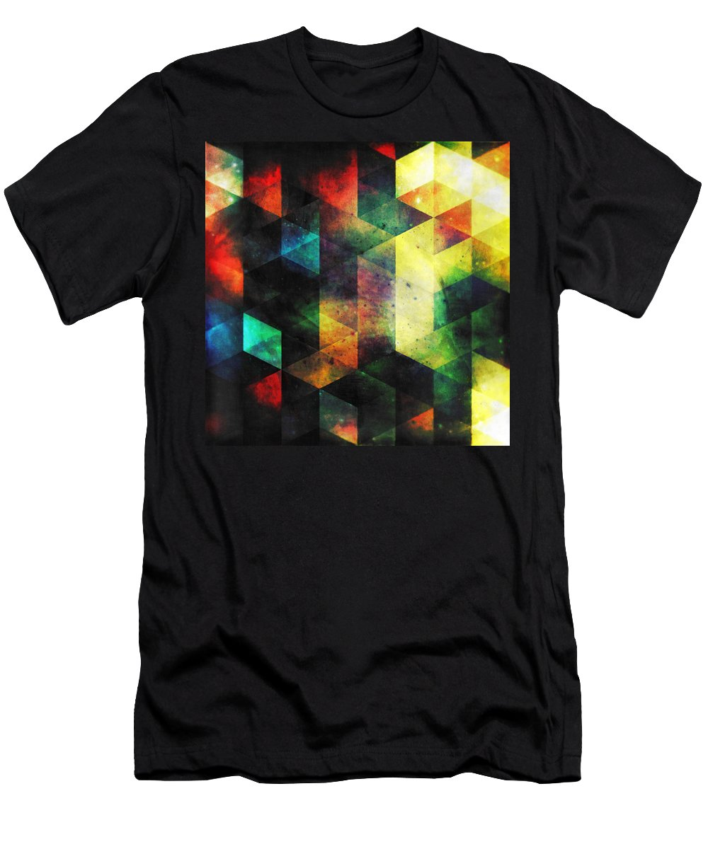 Vision Men's T-Shirt (Athletic Fit) featuring the digital art Modern Quadratic Abstraction by Kristian Leov
