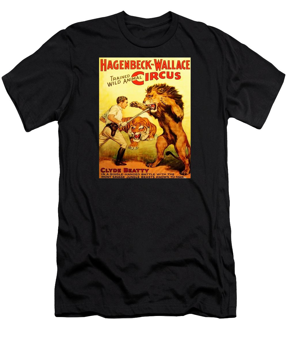 Circus Poster Tee Men's T-Shirt (Athletic Fit) featuring the digital art Modern Vintage Circus Poster by ReInVintaged