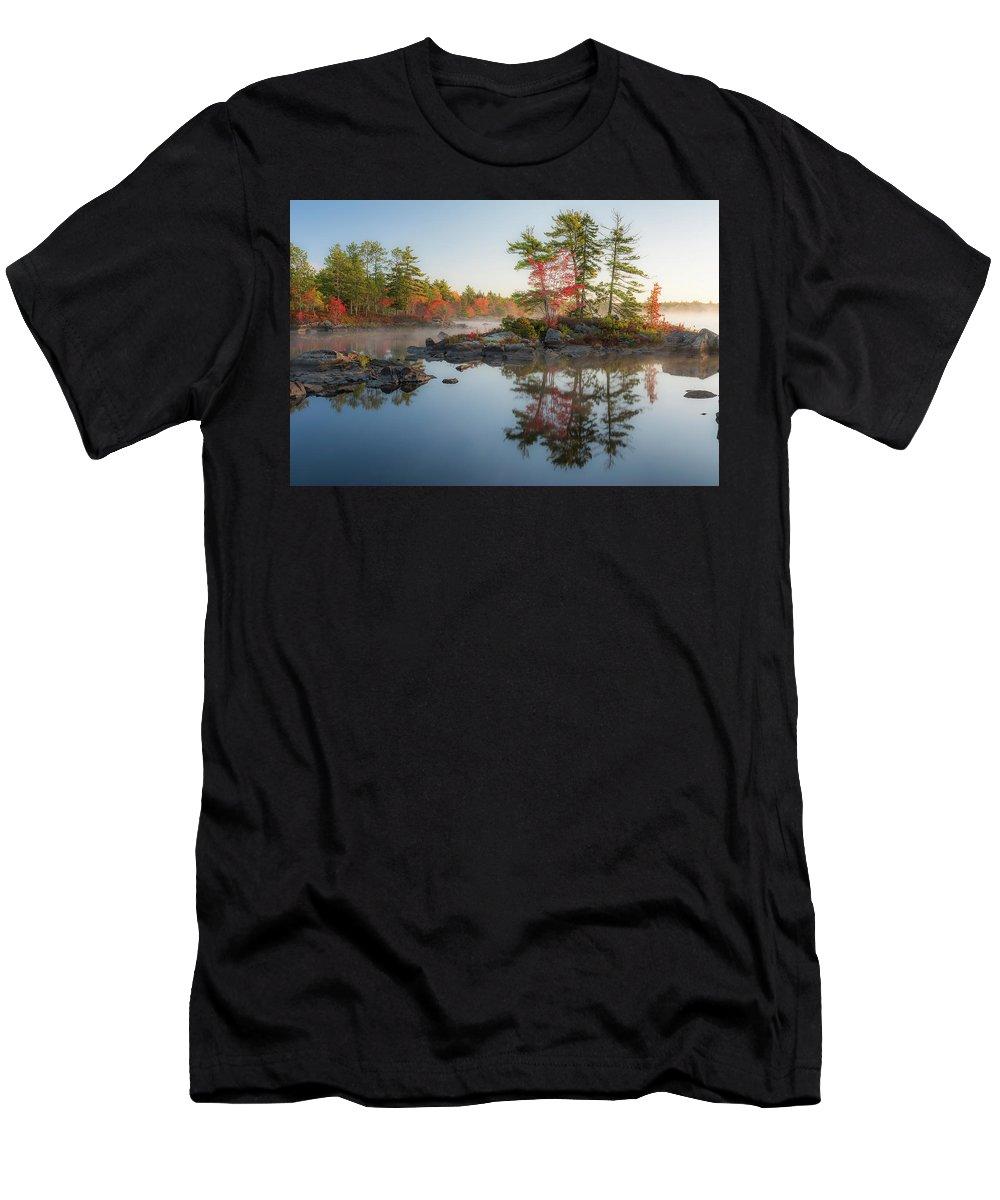 Molega Lake Men's T-Shirt (Athletic Fit) featuring the photograph Molega Lake, Nova Scotia by Cenwyn Jones