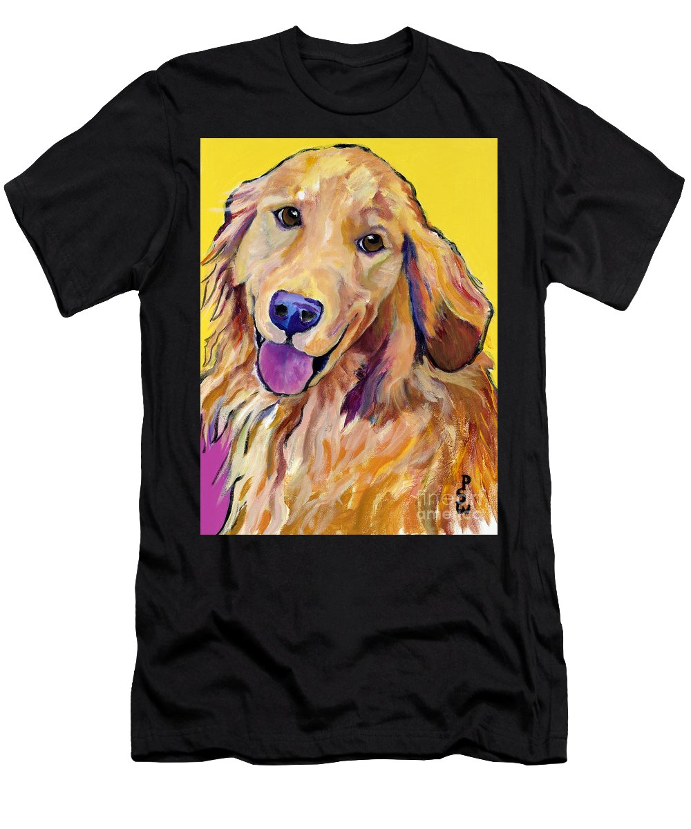 Acrylic Paintings Men's T-Shirt (Athletic Fit) featuring the painting Molly by Pat Saunders-White