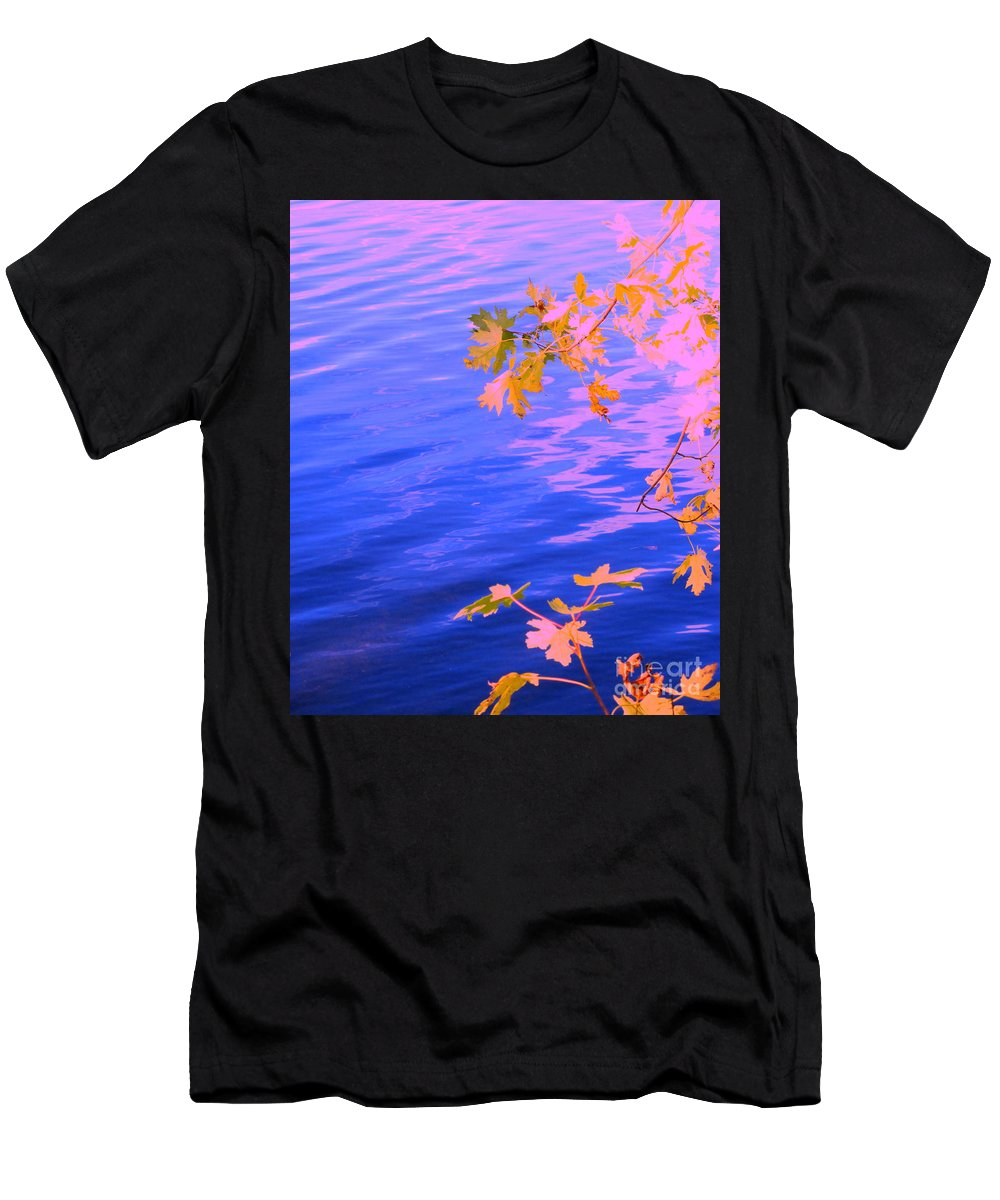 Water Men's T-Shirt (Athletic Fit) featuring the photograph Moment Of Quiet by Sybil Staples