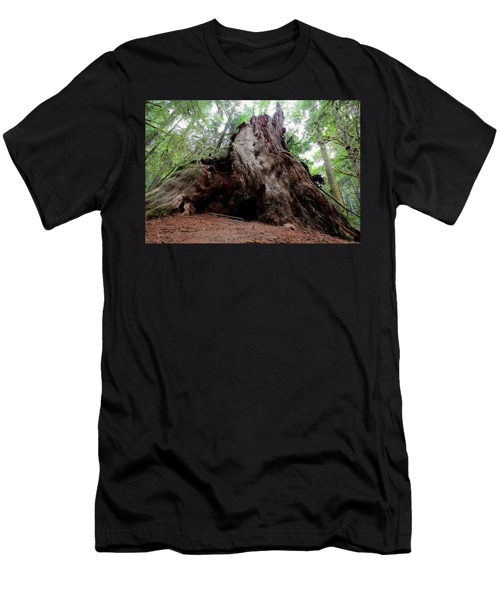 Travel Men's T-Shirt (Athletic Fit) featuring the photograph Moments In Time Trail by Nicholas Miller