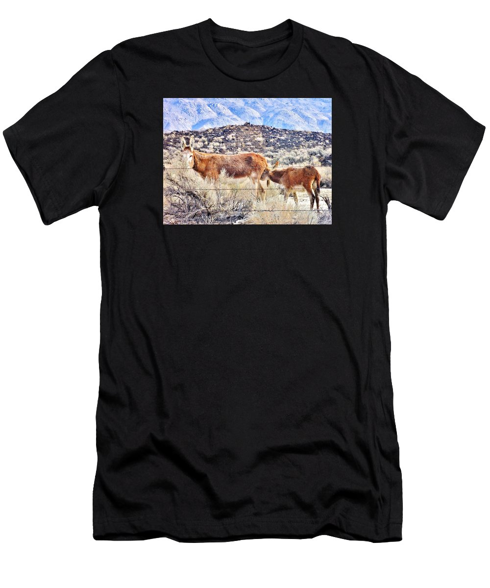 Mountain Men's T-Shirt (Athletic Fit) featuring the photograph Momma Wait by Marilyn Diaz