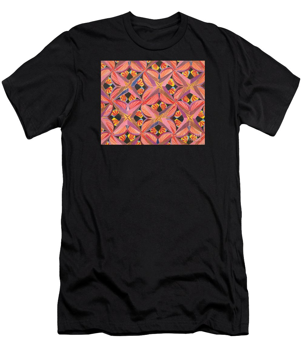 Butterfly Men's T-Shirt (Athletic Fit) featuring the drawing Monarch by Kim Sy Ok