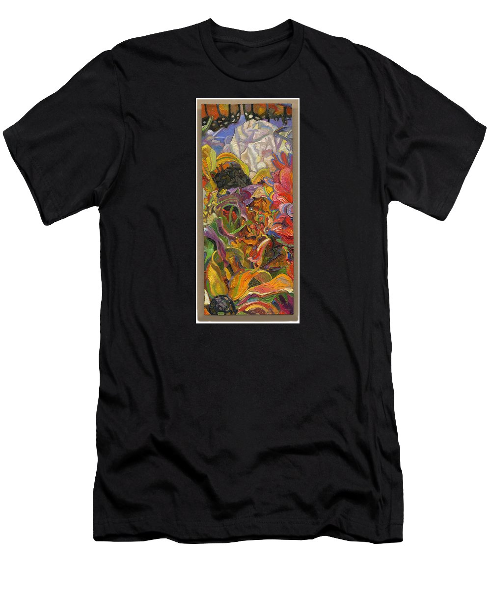 Flowers Men's T-Shirt (Athletic Fit) featuring the painting Monarch Mountain by Juel Grant
