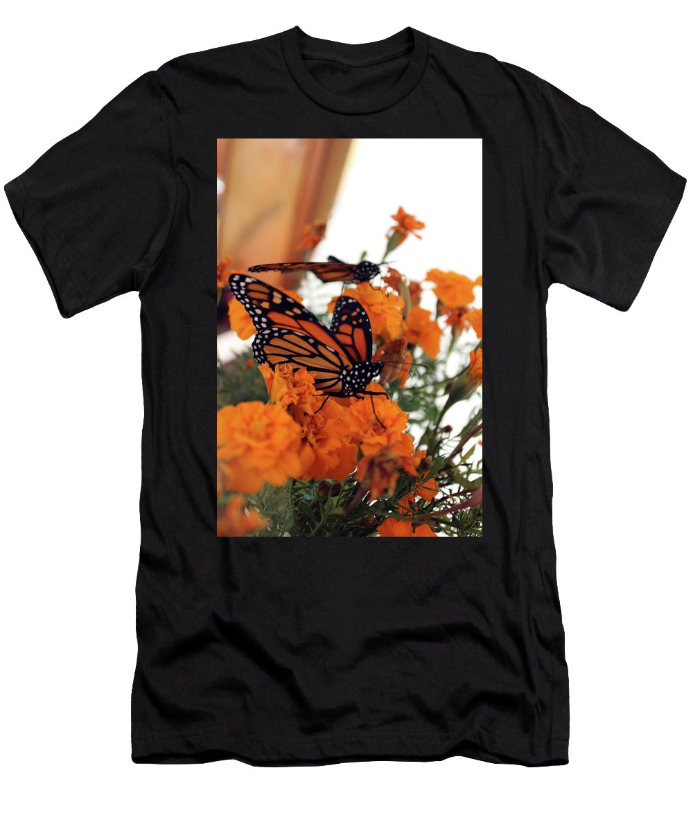 Monarch Men's T-Shirt (Athletic Fit) featuring the photograph Monarch Series 4 by Samantha Burrow