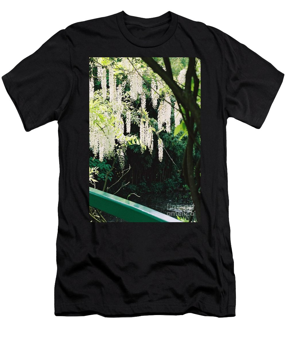 Monet Men's T-Shirt (Athletic Fit) featuring the photograph Monet's Garden Delights by Nadine Rippelmeyer
