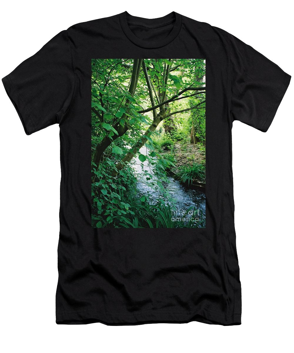 Photography Men's T-Shirt (Athletic Fit) featuring the photograph Monet's Garden Stream by Nadine Rippelmeyer