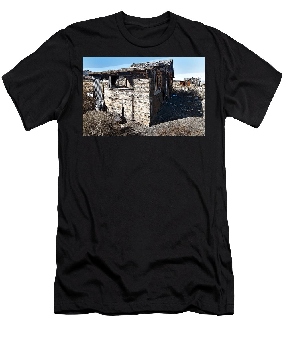 California Scenes Men's T-Shirt (Athletic Fit) featuring the photograph Mono Huts by Norman Andrus