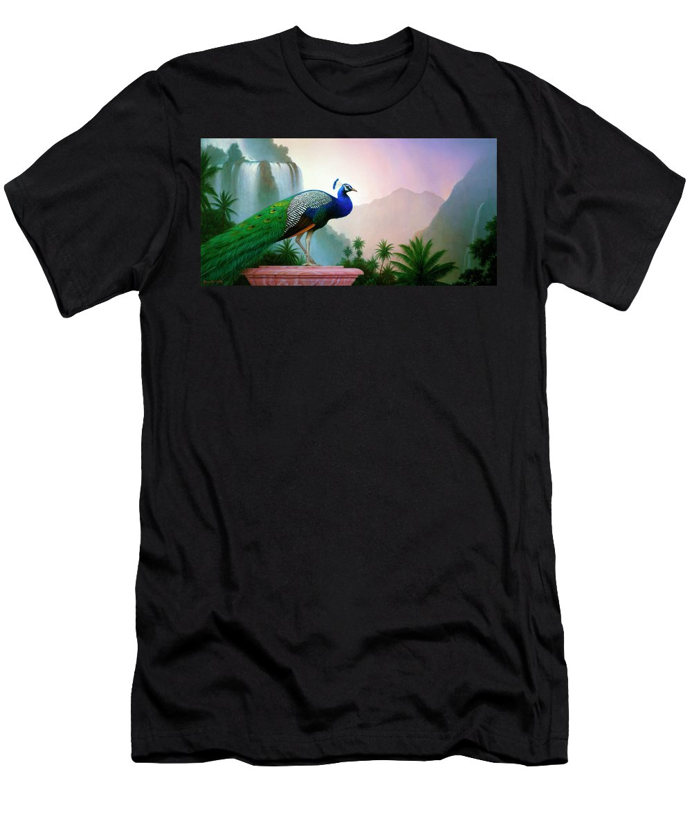 Landscape T-Shirt featuring the painting Monsoon by Brian McCarthy